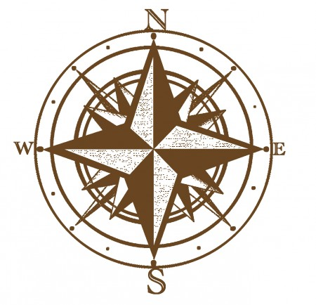 Compass with North, East, South and West listed
